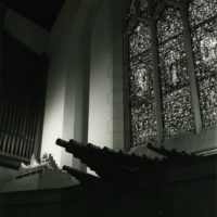 Trompette-en-Chamade profile and exposed pipework, Aeolian-Skinner Opus 1173, First Presbyterian Church, Kilgore, Texas